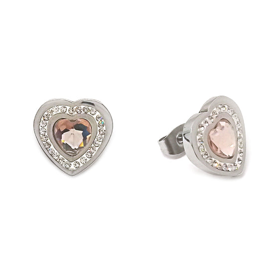 Bronze Heart Stud Earrings