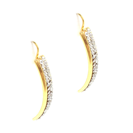 Elegant Dangle Gold Earrings
