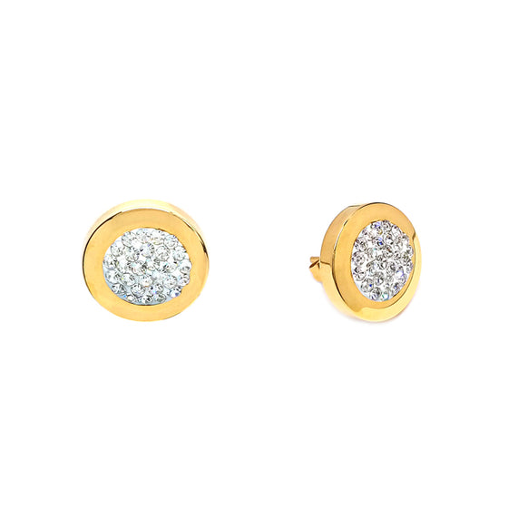 Glamorous Sparkle Gold Earrings