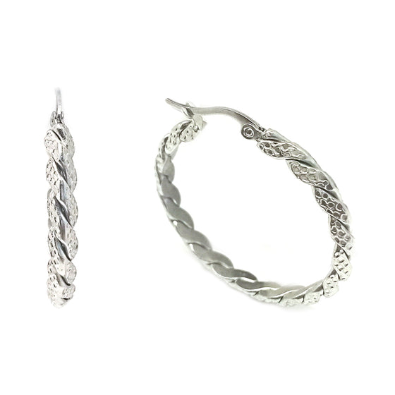 Silver Casual Hoop Earrings