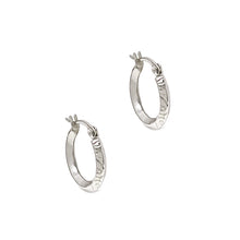 Load image into Gallery viewer, Silver Swirl Hoop Earrings