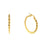 Swirl Gold Hoop Earrings