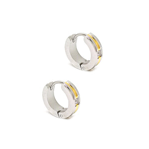 Two Tone Hoop Earrings