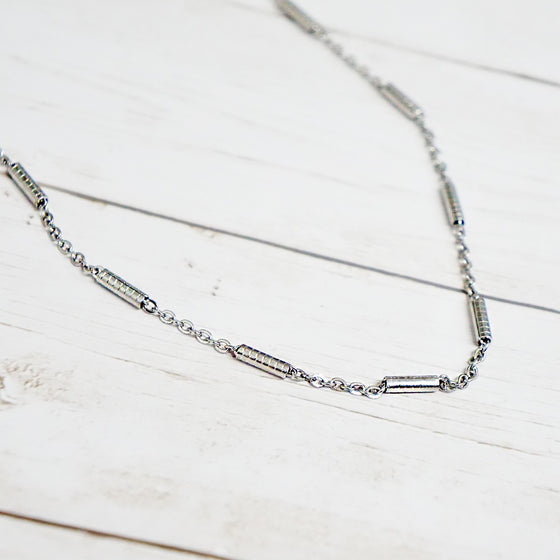 Simple Silver Link Chain Necklace
