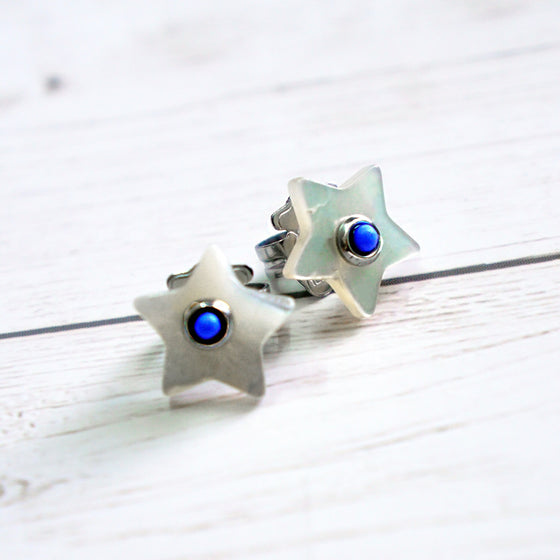 Nacar star earrings