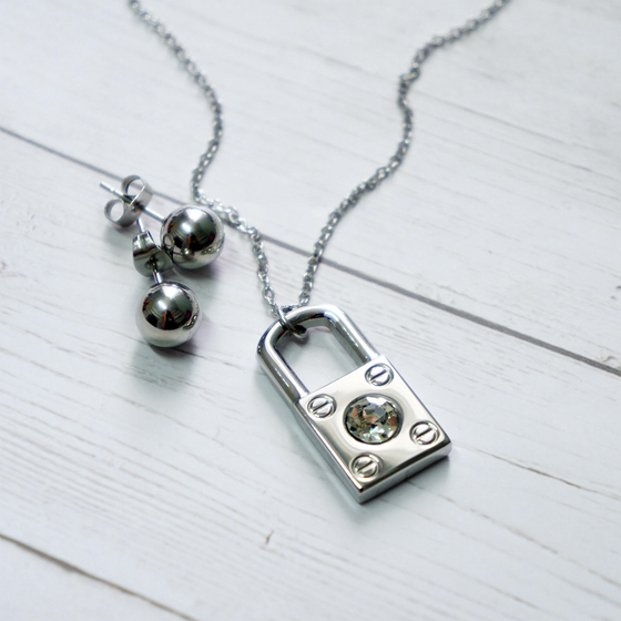Silver Locket Set