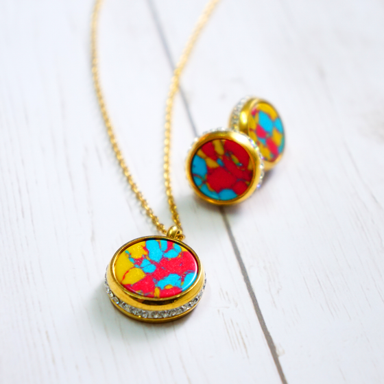 Colorful Marble Set