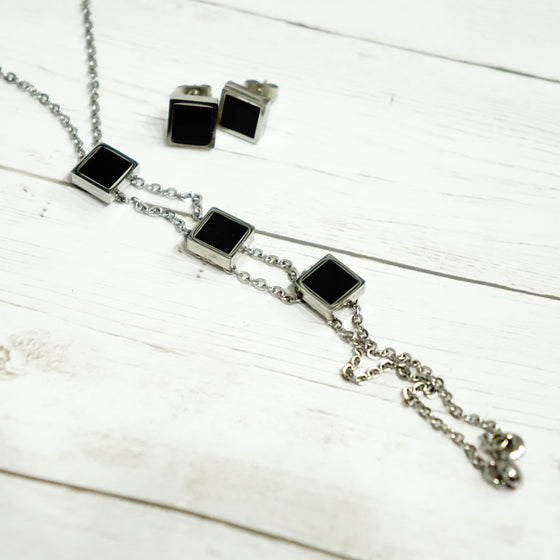 Three Square Black Set