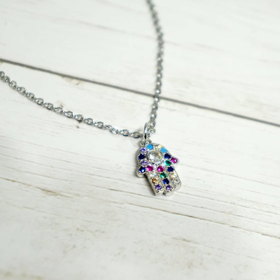 Crystal Hand Necklace