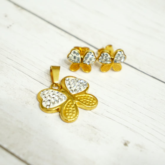 Gold Butterfly Set