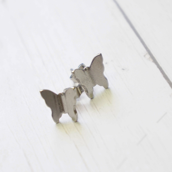 Silver Butterflies earrings