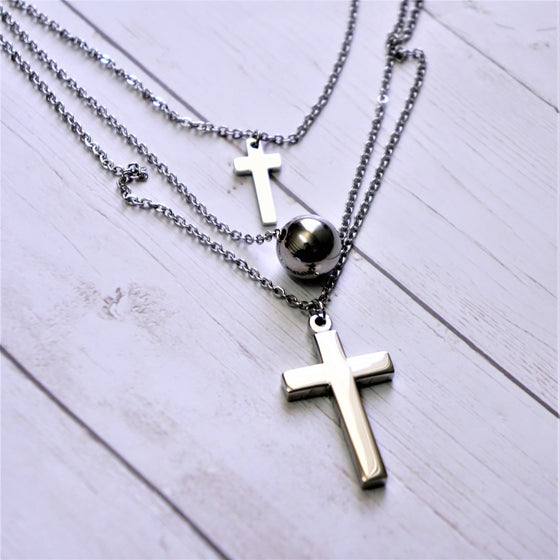 Cross in a Chain Necklace