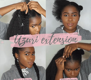 Comment faire des feeds braids avec les extensions à clips Uzuri Extension ?