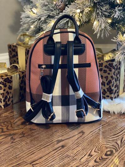 Loren Plaid Backpack + Wallet