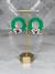 O Christmas Wreath Handmade Clay Earrings (FINAL SALE)