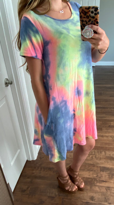 Galaxy Tie Dye Dress FINAL SALE