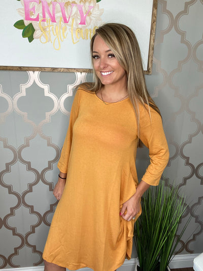 Sally Dress (Ash Mustard) (final sale)