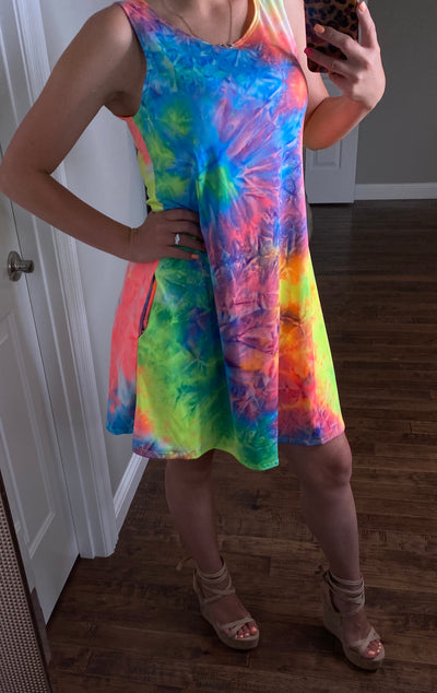 Kati Tie Dye Dress (FINAL SALE)