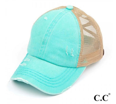 Multi-Ponytail Hat (Mint)