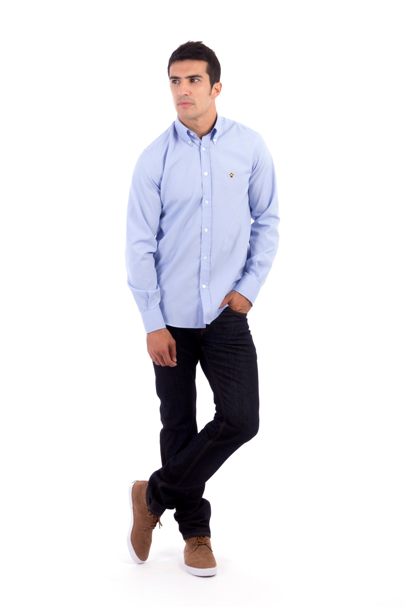 Camisa GENTLE SIR OXFORD azul celeste