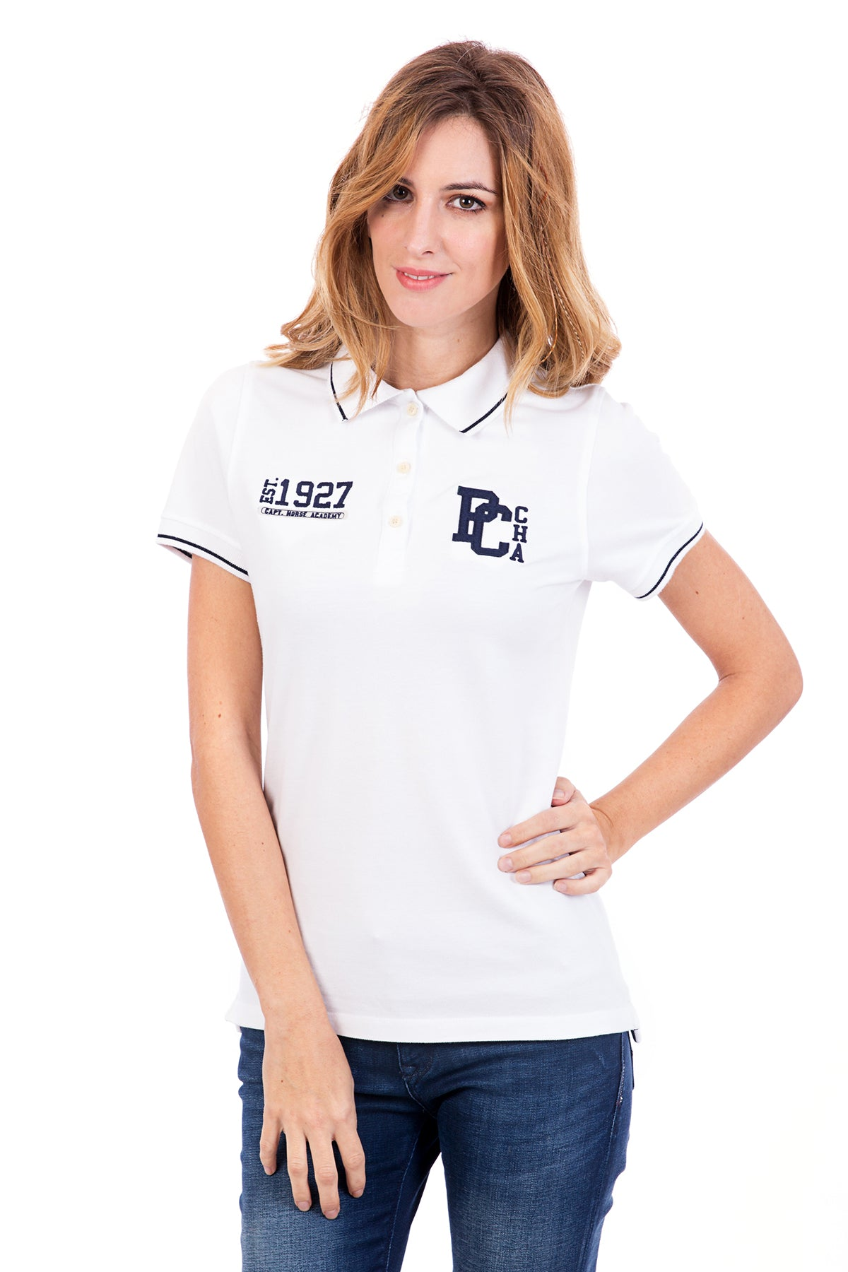 Polo Blanco Varsity Pc