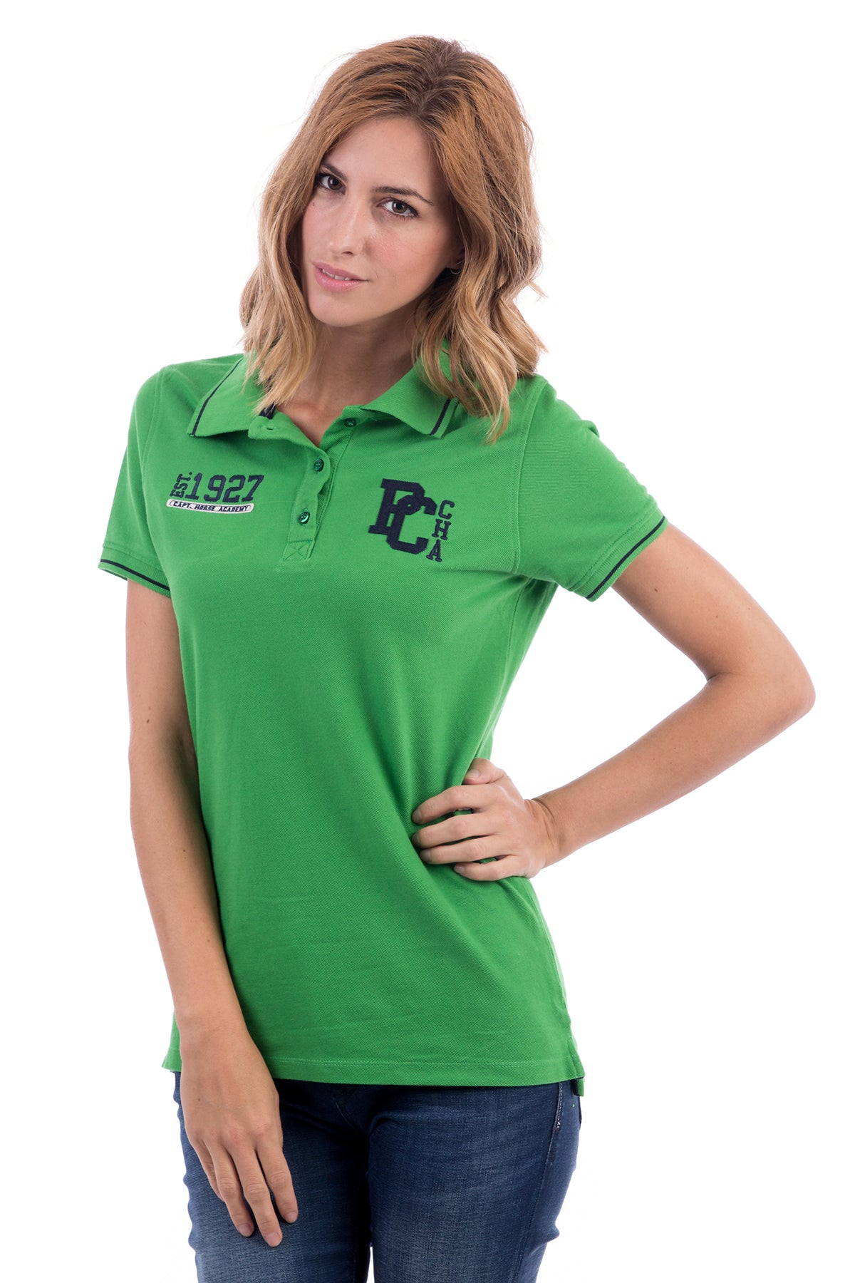 Polo verde grass Varsity Pc