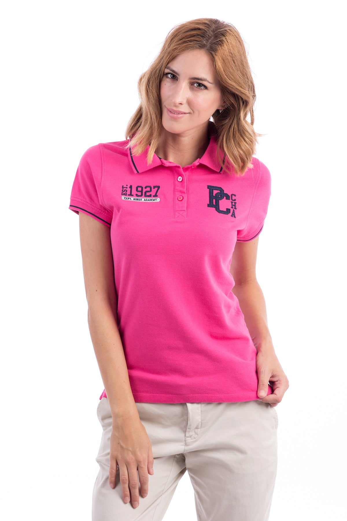 Polo Fucsia Varsity Pc