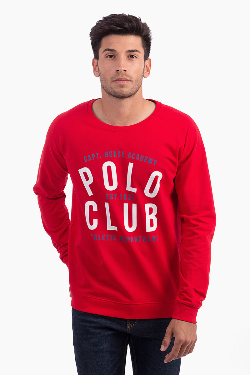 Sudadera Rojo Polo Club Sweat
