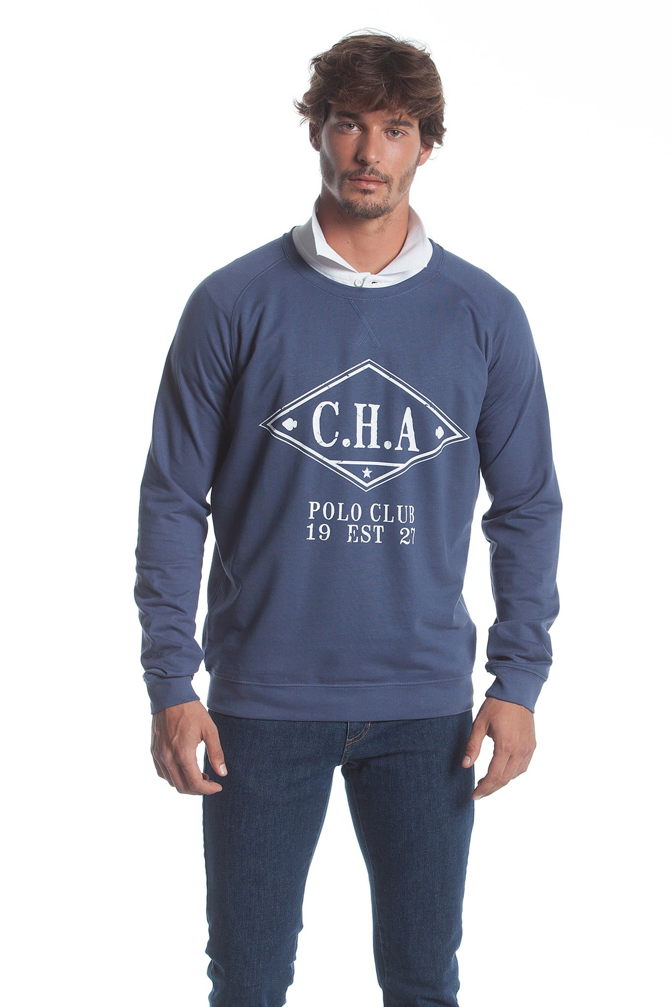 Sudadera Azul Denim Ribbon Cha