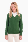Jersey MISS RIGBY verde oscuro