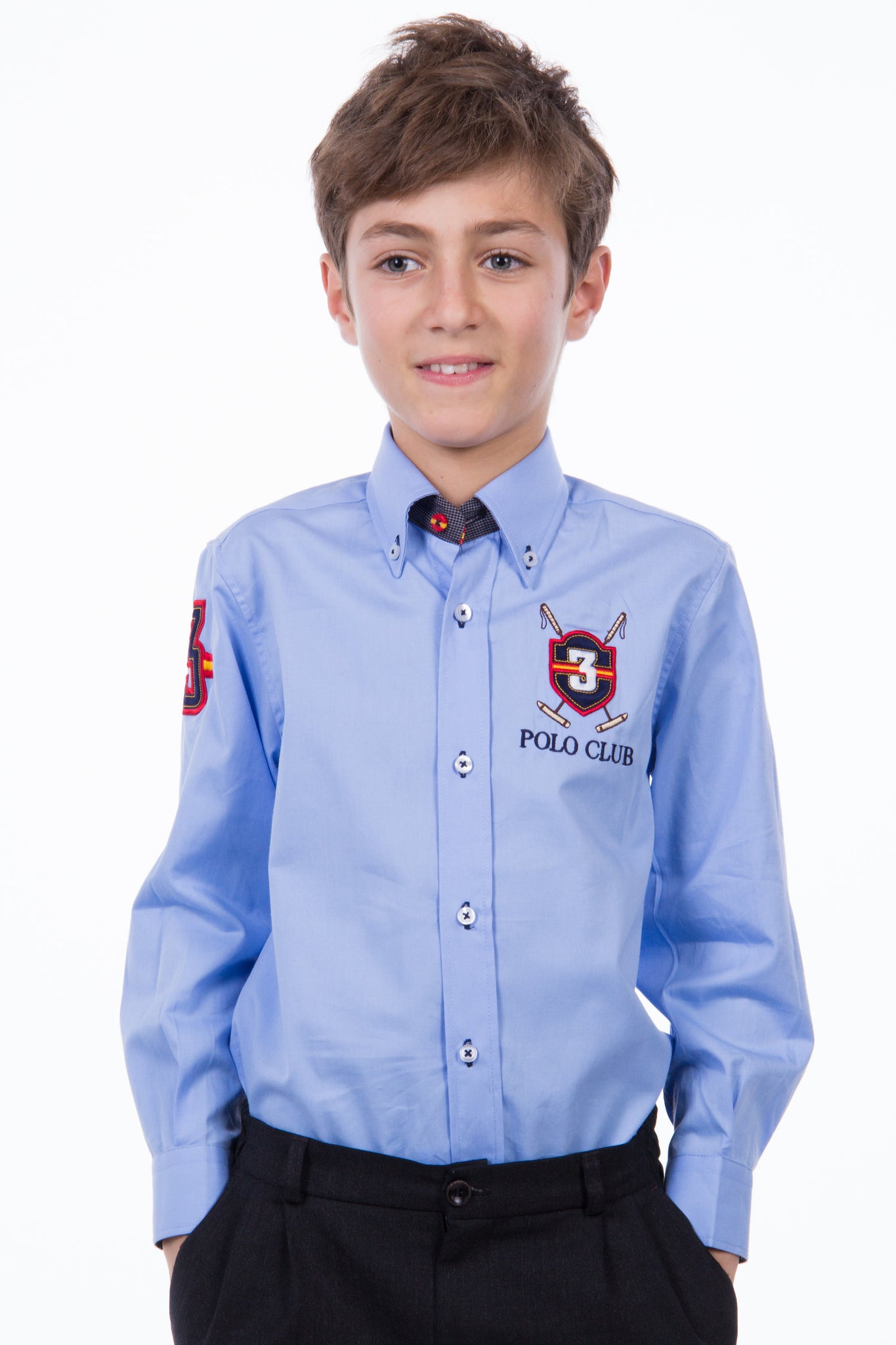 Camisa Azul celeste Three