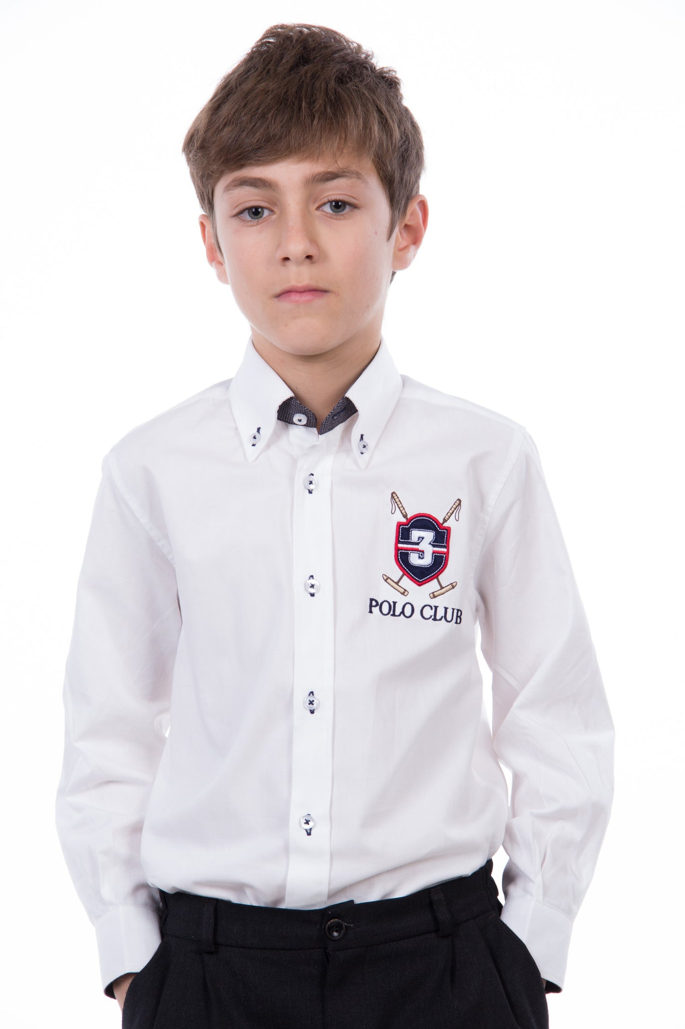 Camisa Blanco Three