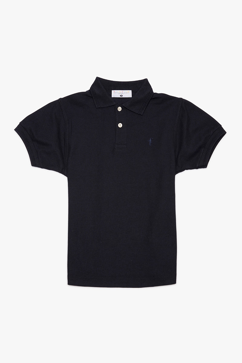 Polo azul marino Mini Rigby Plain