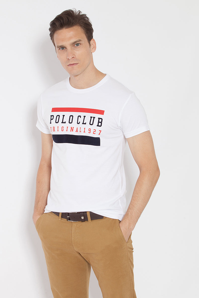 CAMISETA PRINT FLOCADO
