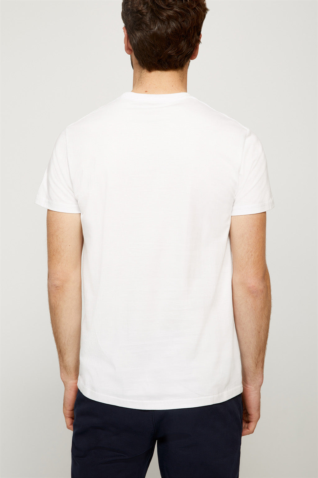 Printed white cotton tee