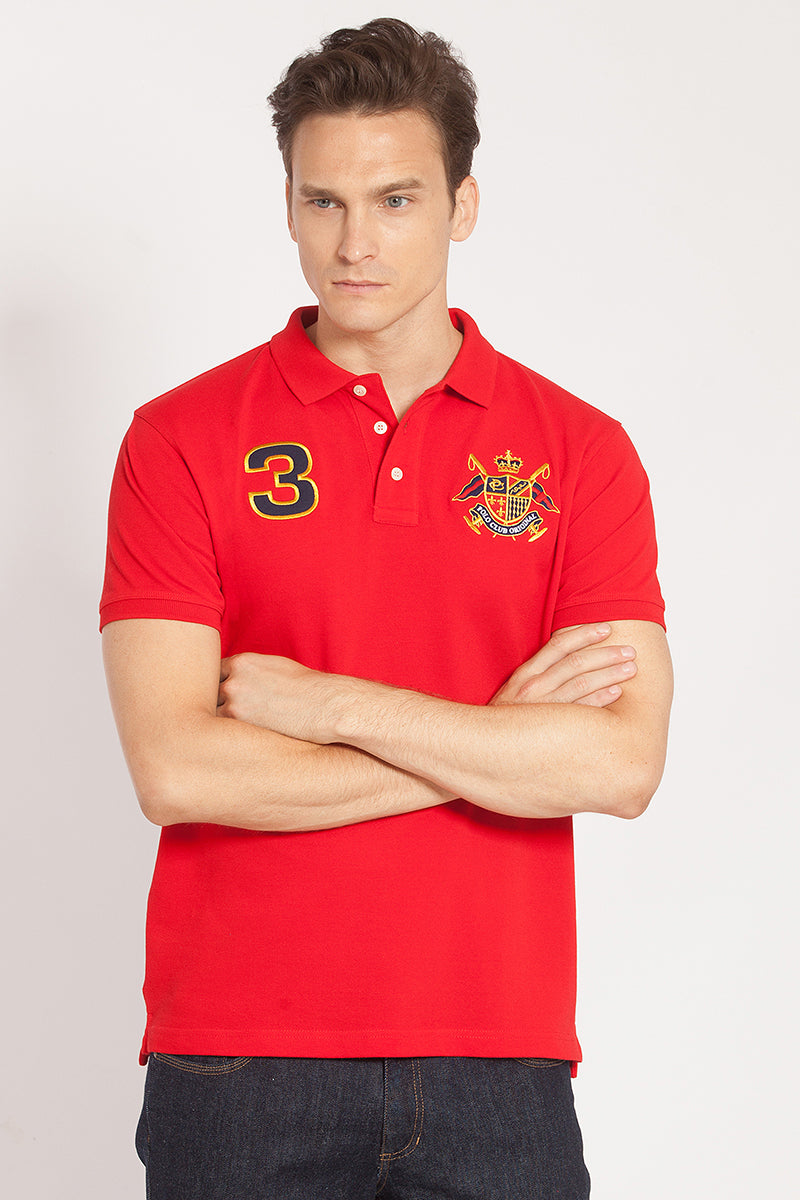POLO CON ESCUDO BORDADO