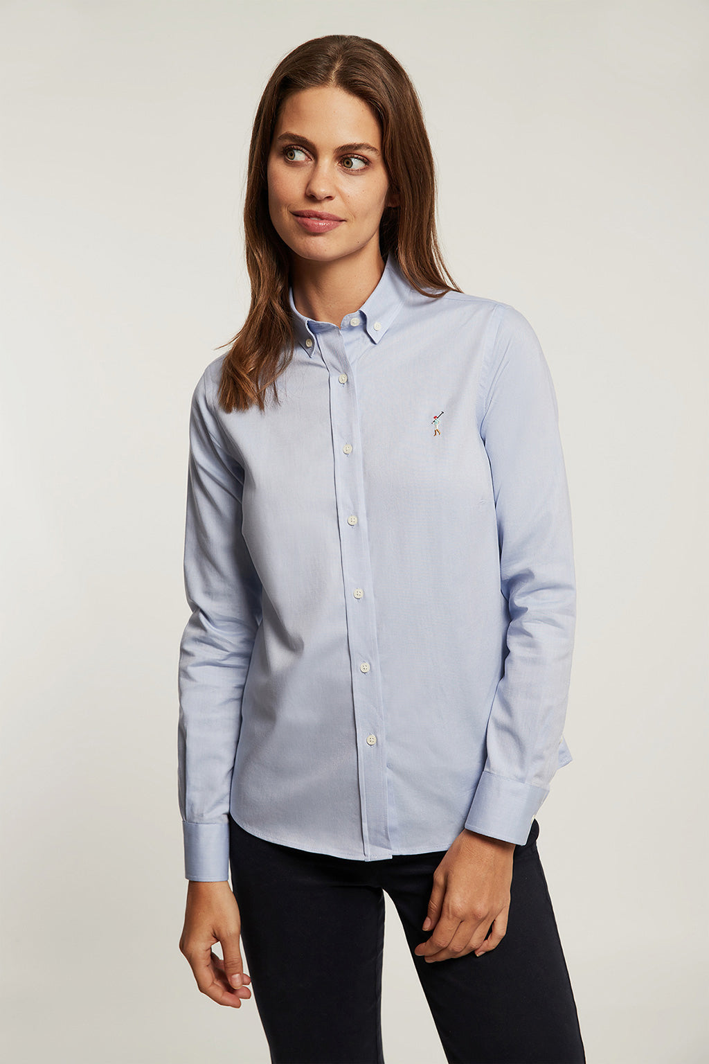 Camisa MISS RIGBY GO COLOR OXFORD Azul Celeste