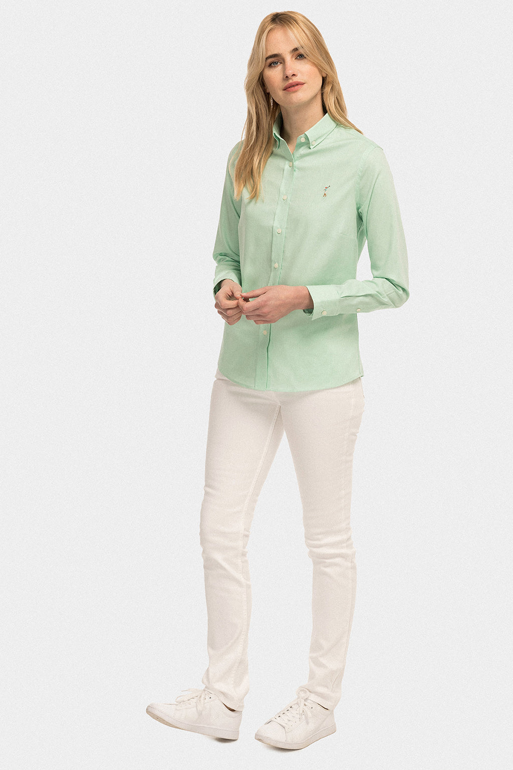 Camisa MISS RIGBY GO COLOR OXFORD Verde