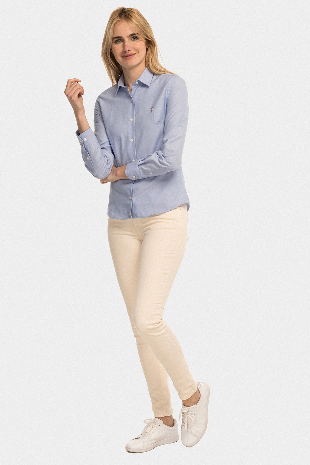 Camisa MISS RIGBY COLOR OXFORD Azul Celeste