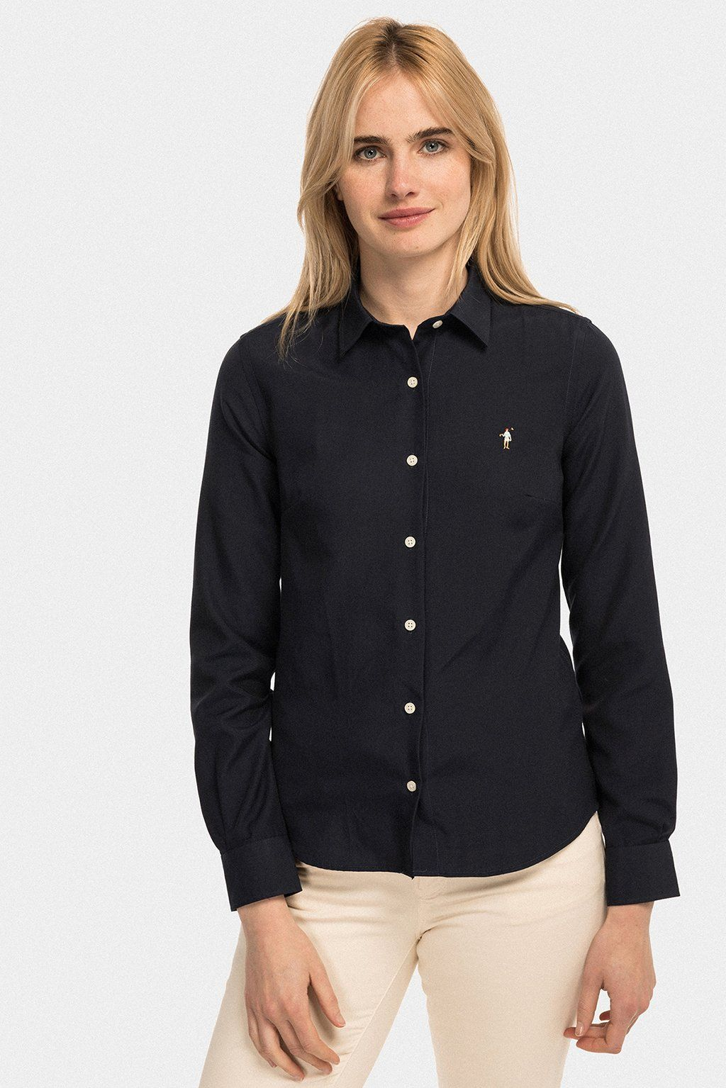 Camisa MISS RIGBY COLOR OXFORD Azul Marino