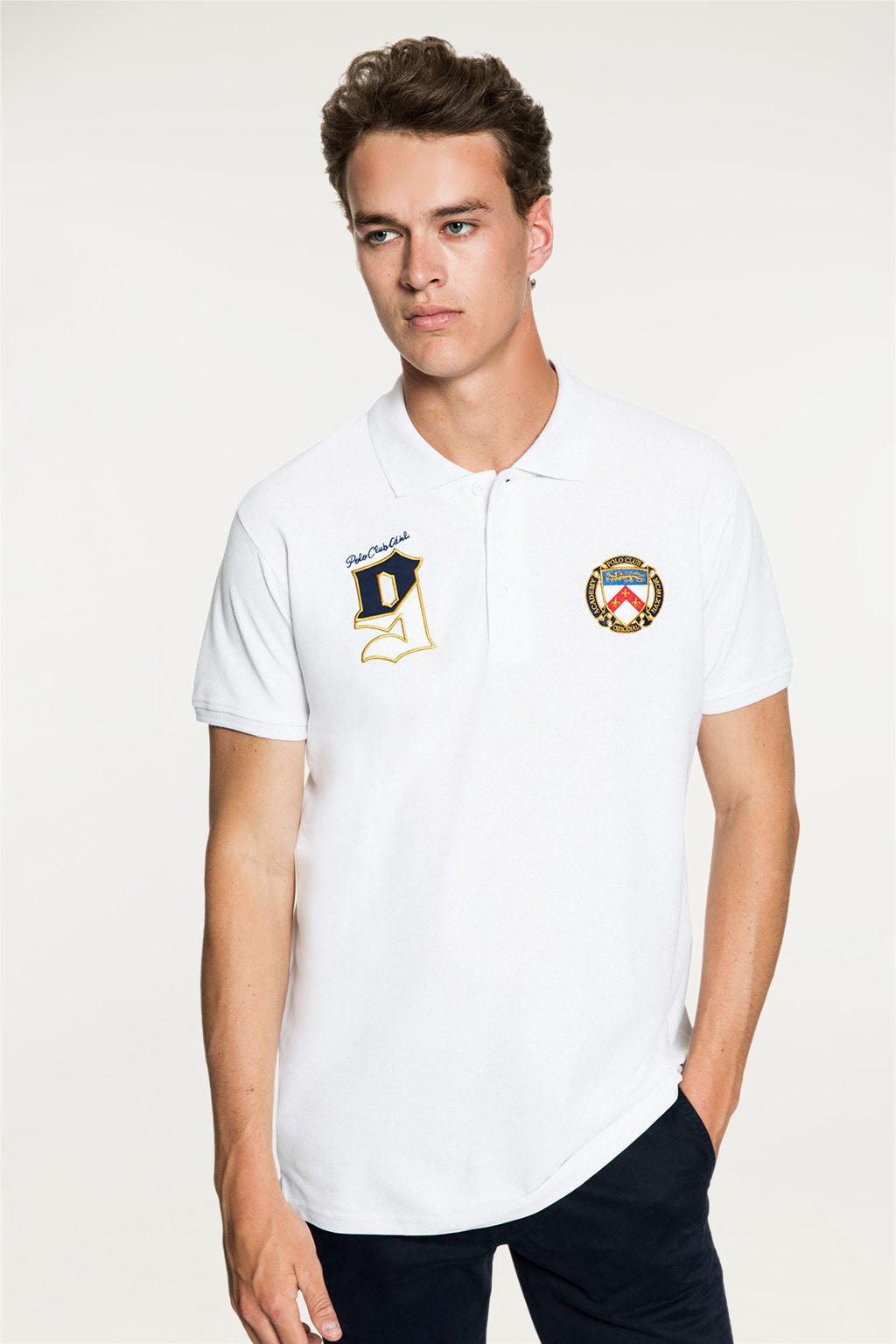 Polo CIRCLE BADGE Blanco