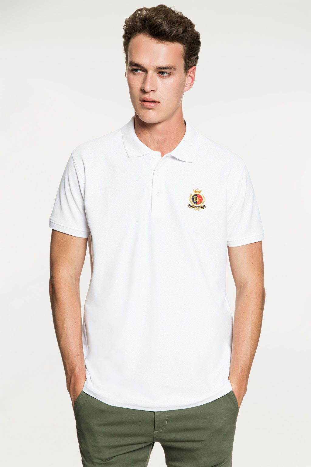 Polo GOTHIC BADGE Blanco
