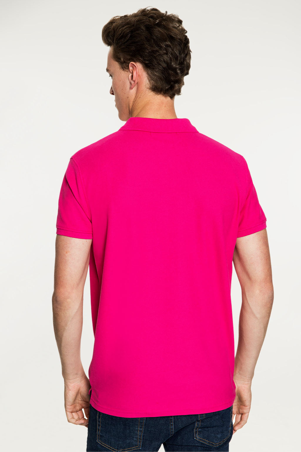 Polo BIG TITLE PATCH Fucsia