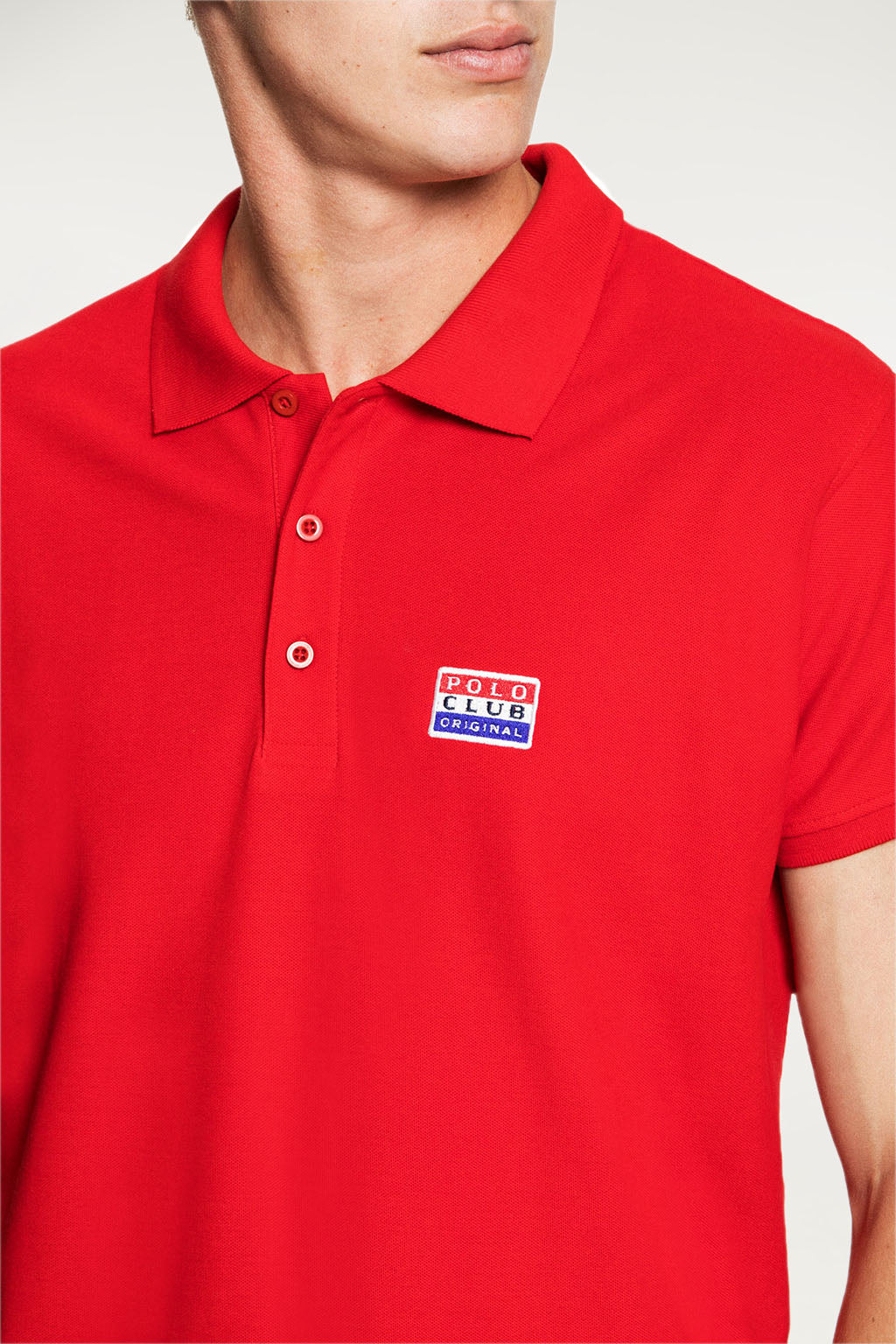 Polo BIG TITLE PATCH Rojo