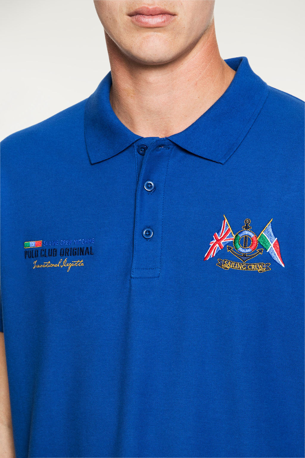 Polo YATCHING FLAG azul royal