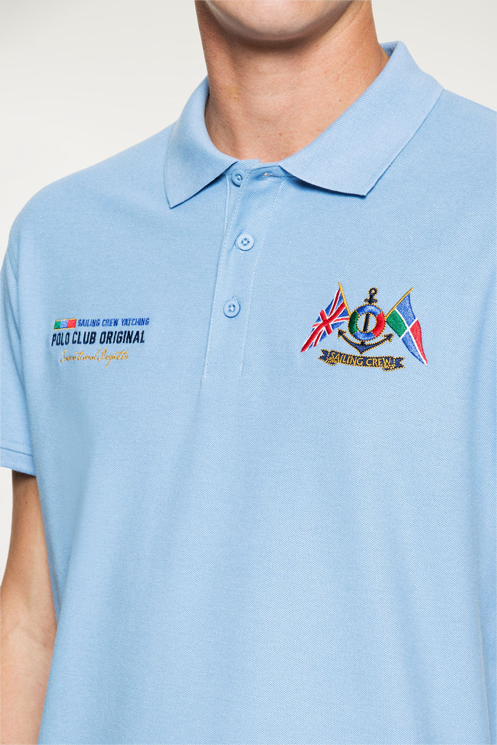 Polo YATCHING FLAG Azul Celeste