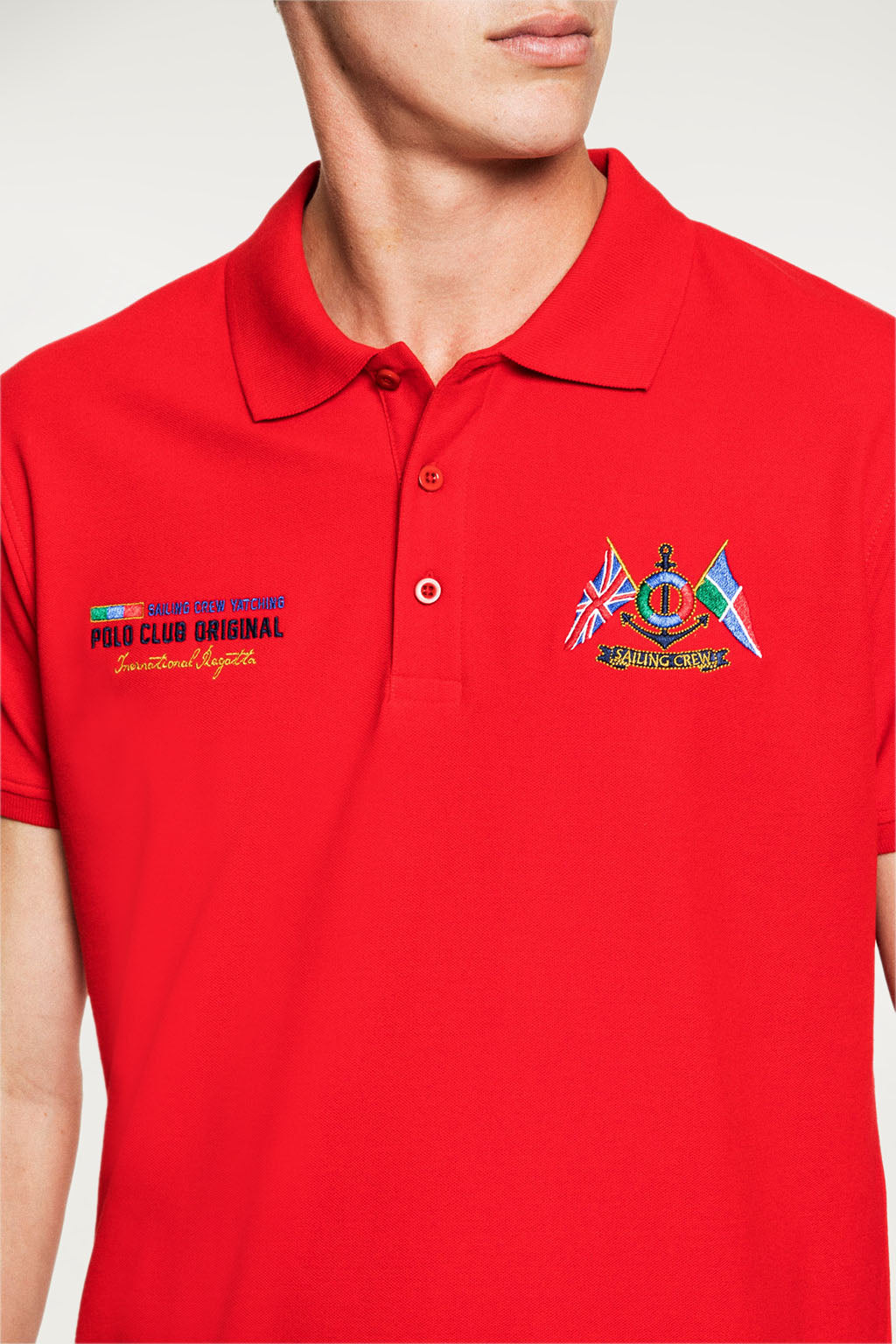 Polo YATCHING FLAG Rojo