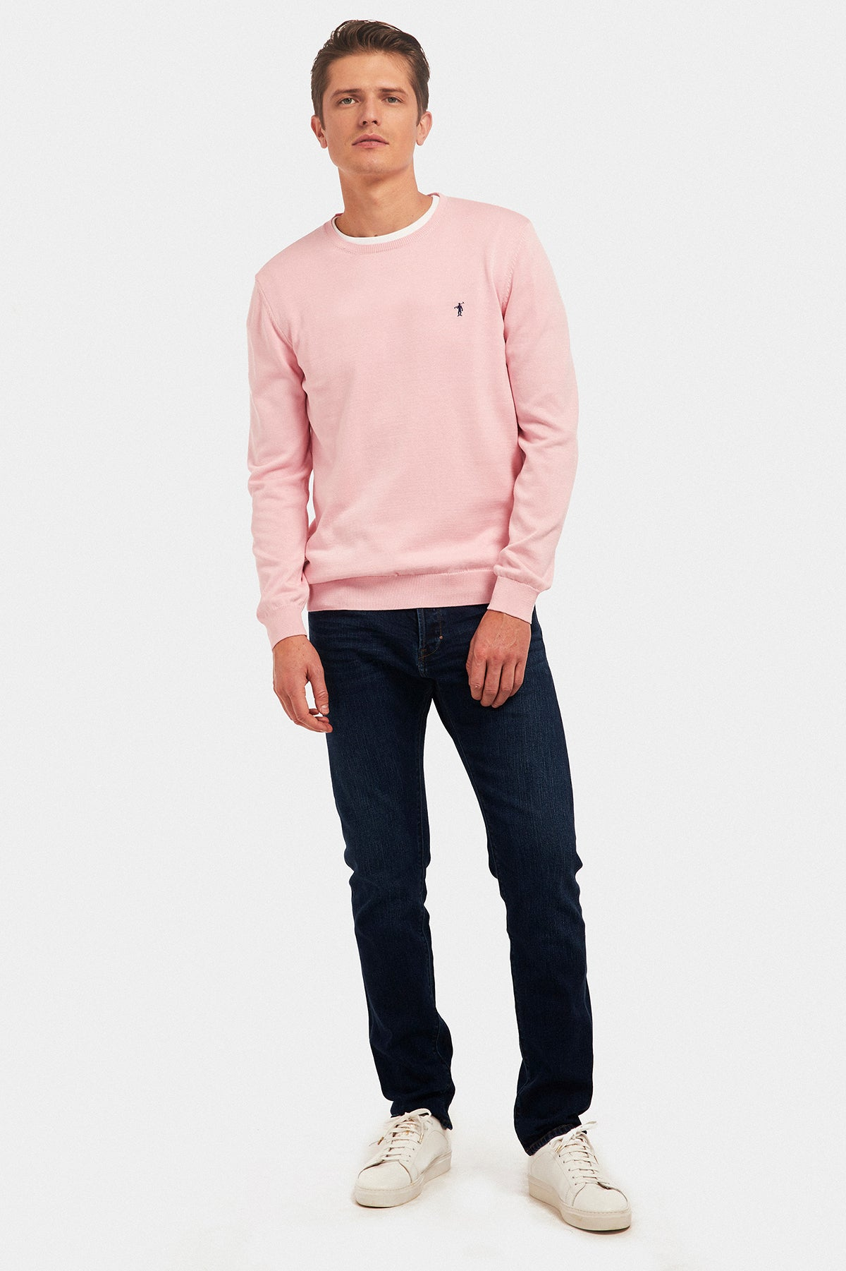 Pink round neck jumper