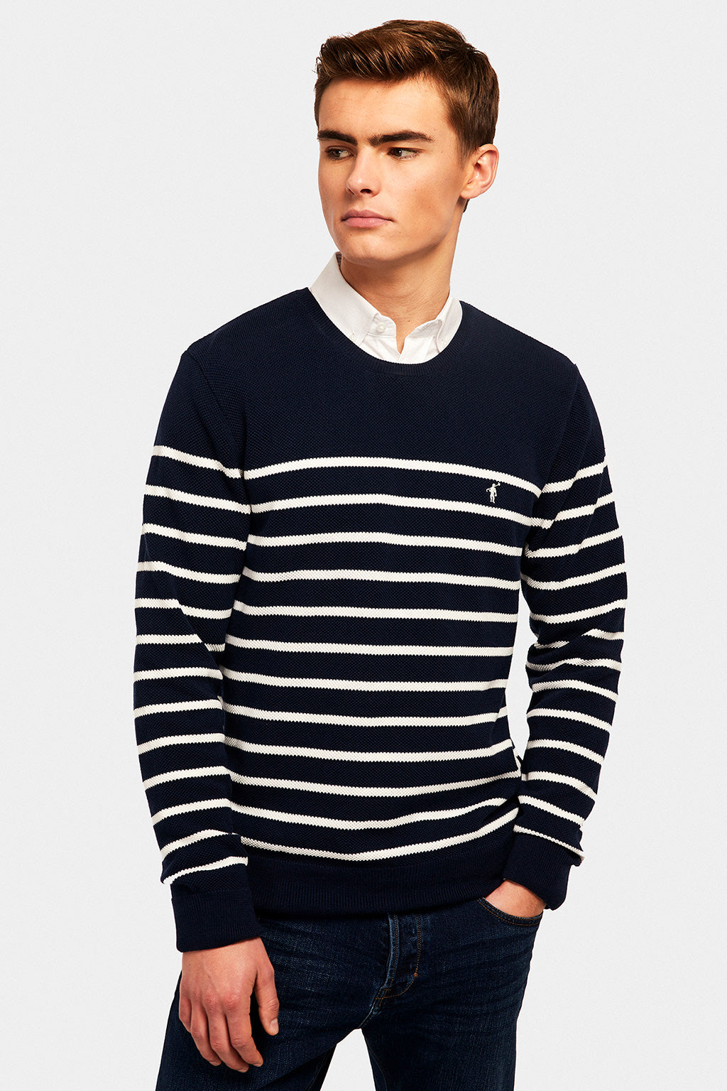 Jersey Navy Stripes Jersey Marino-Crudo