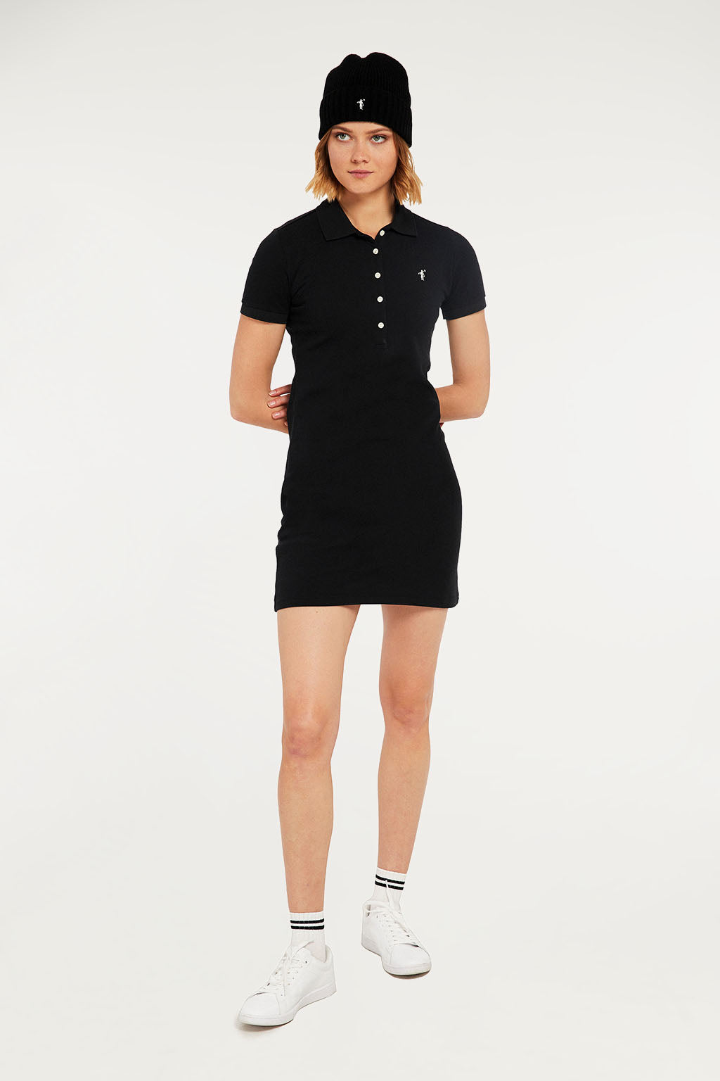 Black polo dress